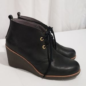 Sperry Topsider Harlow Leather Wedge Booties